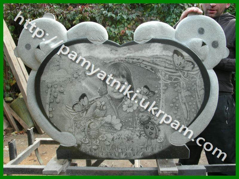 Памятник из гранита Харабали Лампадка из лезниковского гранита Соколиная гора